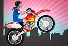 Girl Bike Stunt