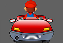 Super Mario On The Road